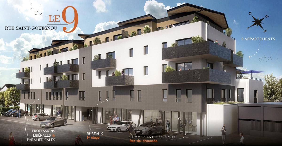 Programme immobilier avec appartements à vendre sur Gouesnou-Brest (Finistère)