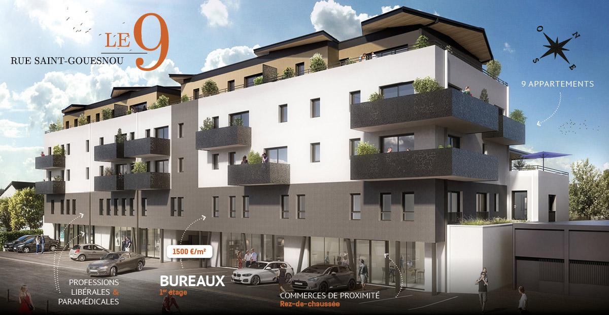 Bureaux à vendre sur Gouesnou-Brest (Finistère)